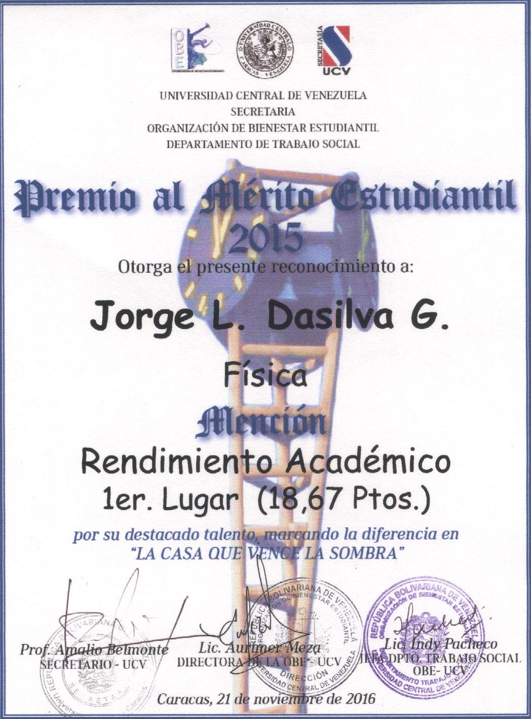 Mérito Estudiantil 2015