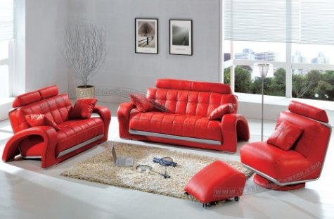 red leather sofa beds