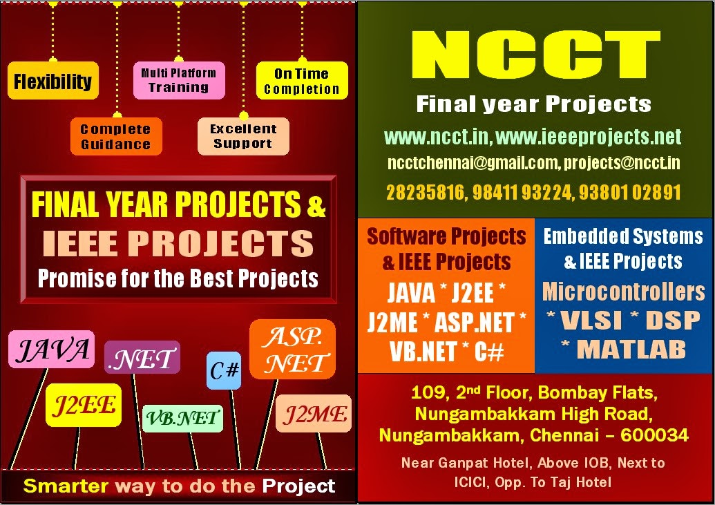 Ieee Final Year Project Topics Ncct Www Ncct In 044