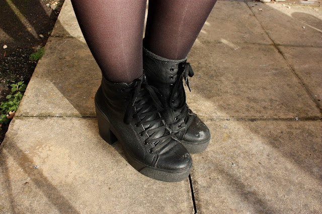 Close up of my Topshop Astrix Boots