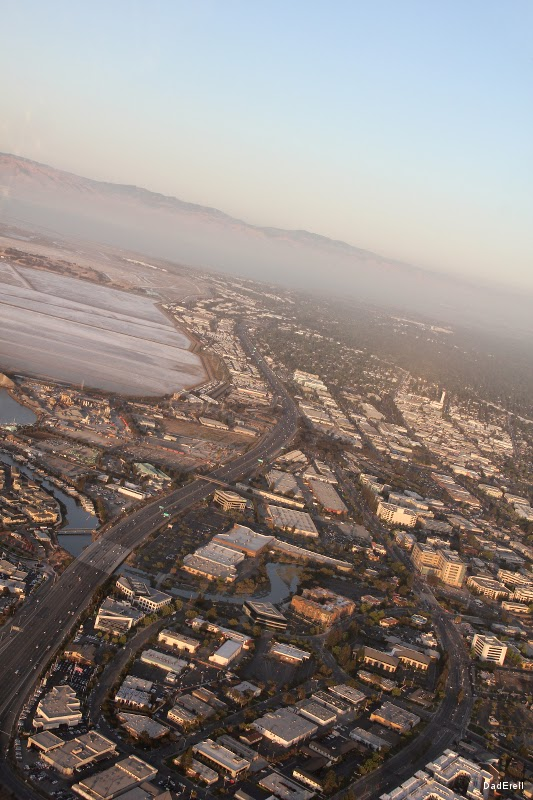 Vue d'avion de Redwood City