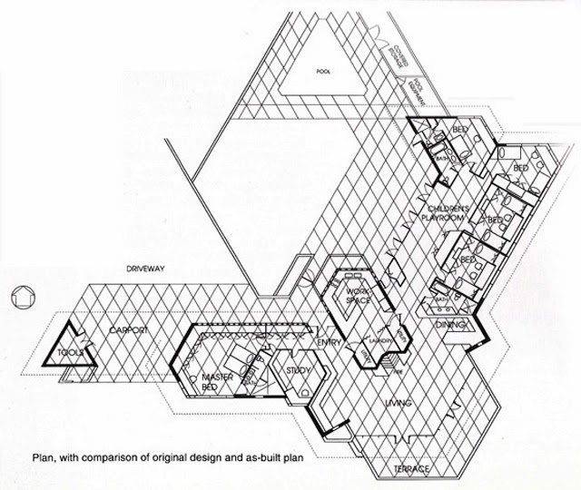 Frank lloyd wright ablin house bakersfield for Frank lloyd wright floor plan