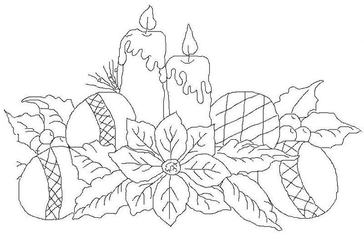 Desenho de Vela de Natal para colorir Guia Infantil