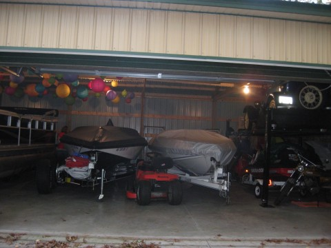 The rubles pearl lake weekend for Boat garages
