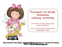 Preschool-1st Grade Valentine Literacy  Activities