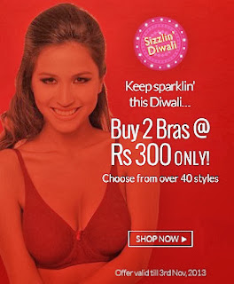 Zivame Sizzling Diwali Offer: Buy 2 Bras for Rs.300 Only
