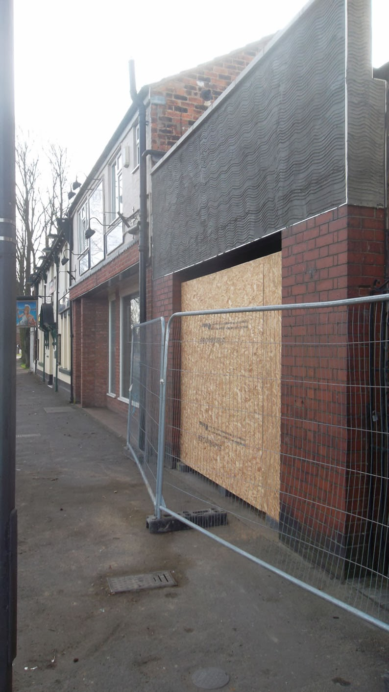 The old fire station in Brigg being transformed into a shop - Nigel Fisher's Brigg Blog picture