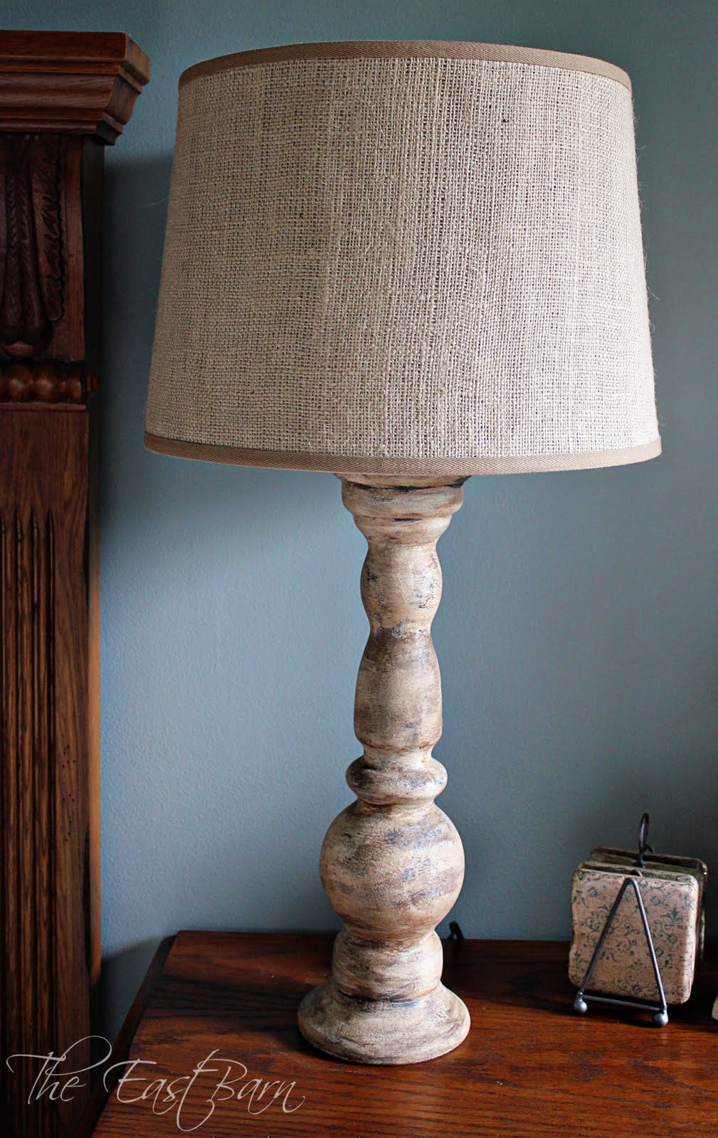 Burlap Lamp Shades : The east barn in different light