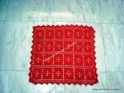 Tapete quadrado vermelho (2)