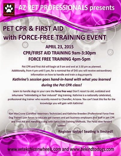 Pet CPR and Dog Training Class!