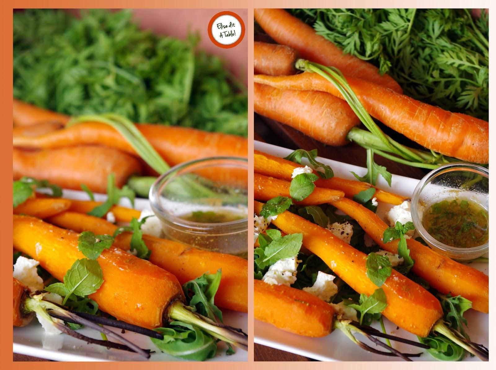 recette carottes grillées au cumin et à la menthe