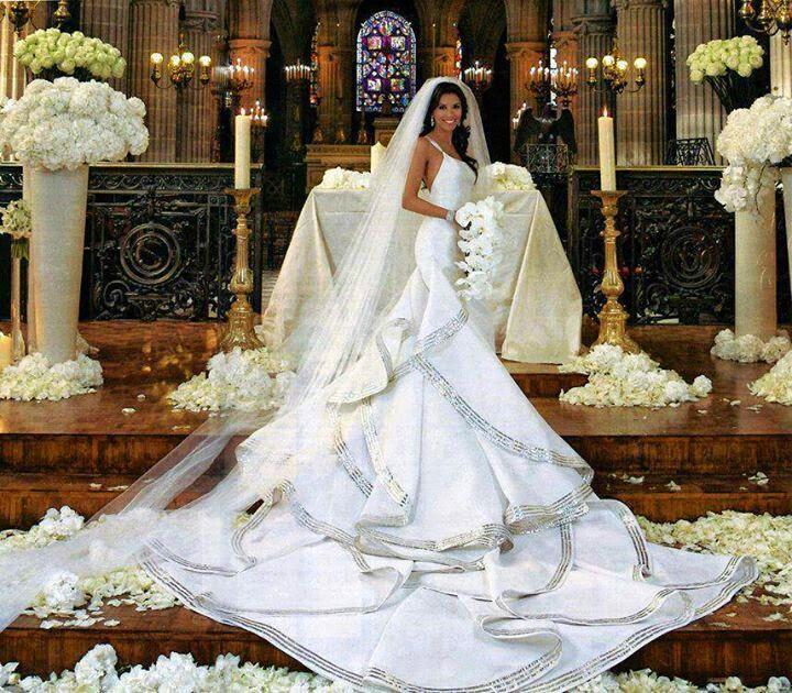 vestidos de novia boda Eva Longoria hermanas bolena