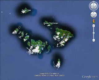 Pulau tambelan dalam google earth