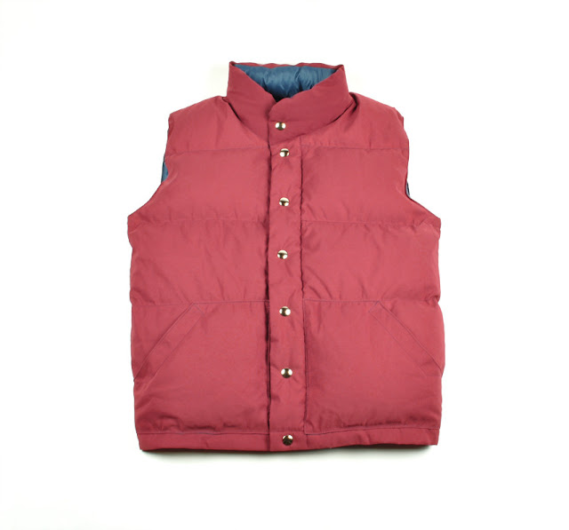 Crescent Down Works x Freeman Seattle: Italian Vest Cardinal