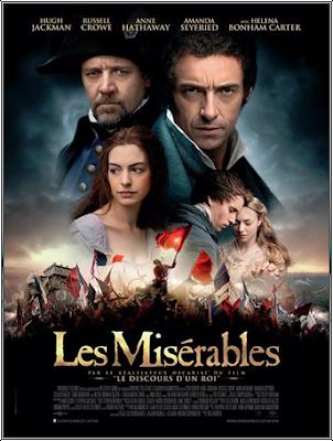 Les Misérables Victor Hugo France réalisateur Tom Hooper le discours d'un roi, Anne hathaway Hugh Jackman Russell Crowe Eddie redmayne Amanda Seyfried