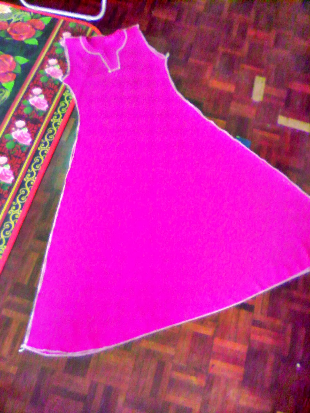 assalamualaikumm lagi pola jubah princess cut buat pola kita dah kan