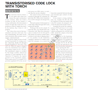 transistorised code lock with torch electronics circuits for you rh coolelectronicscircuits blogspot com