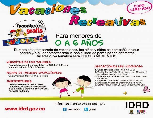 Vacaciones Recreativas 2014 0 - 6 Años