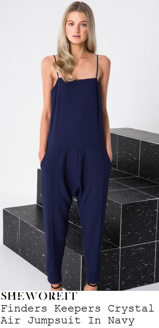 jessica-wright-navy-blue-sleeveless-cami-strap-drop-crotch-jumpsuit