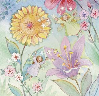 Hadas entre flores