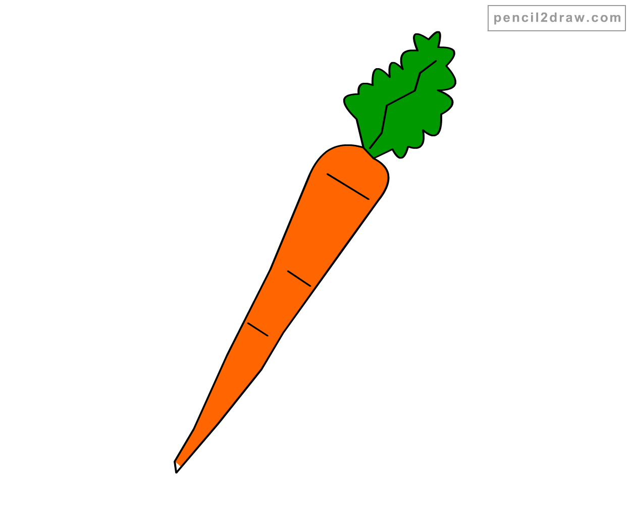 How To Draw A Carrot Step By Apps Directories