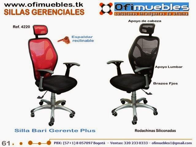 Sillas gerenciales y presidenciales sillas para oficina - Silla 1 2 3 reclinable ...