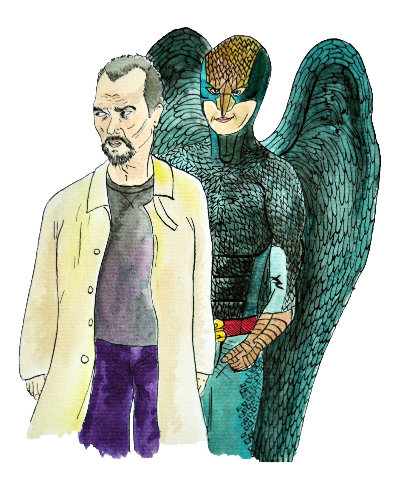 Birdman Oscars 2015 illustration