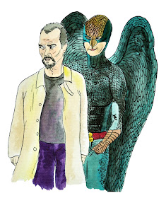 Birdman Oscars 2015 illustration