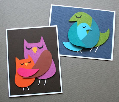 paper craft: make a momma bird card