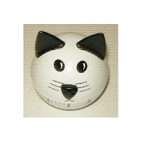 photo of round kitchen timer shaped like cat's head with ears