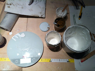The laboratory of Zilmers is tasting and making the perfect distemper paint