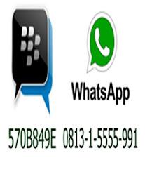 Pin BBM dan WhatsApp