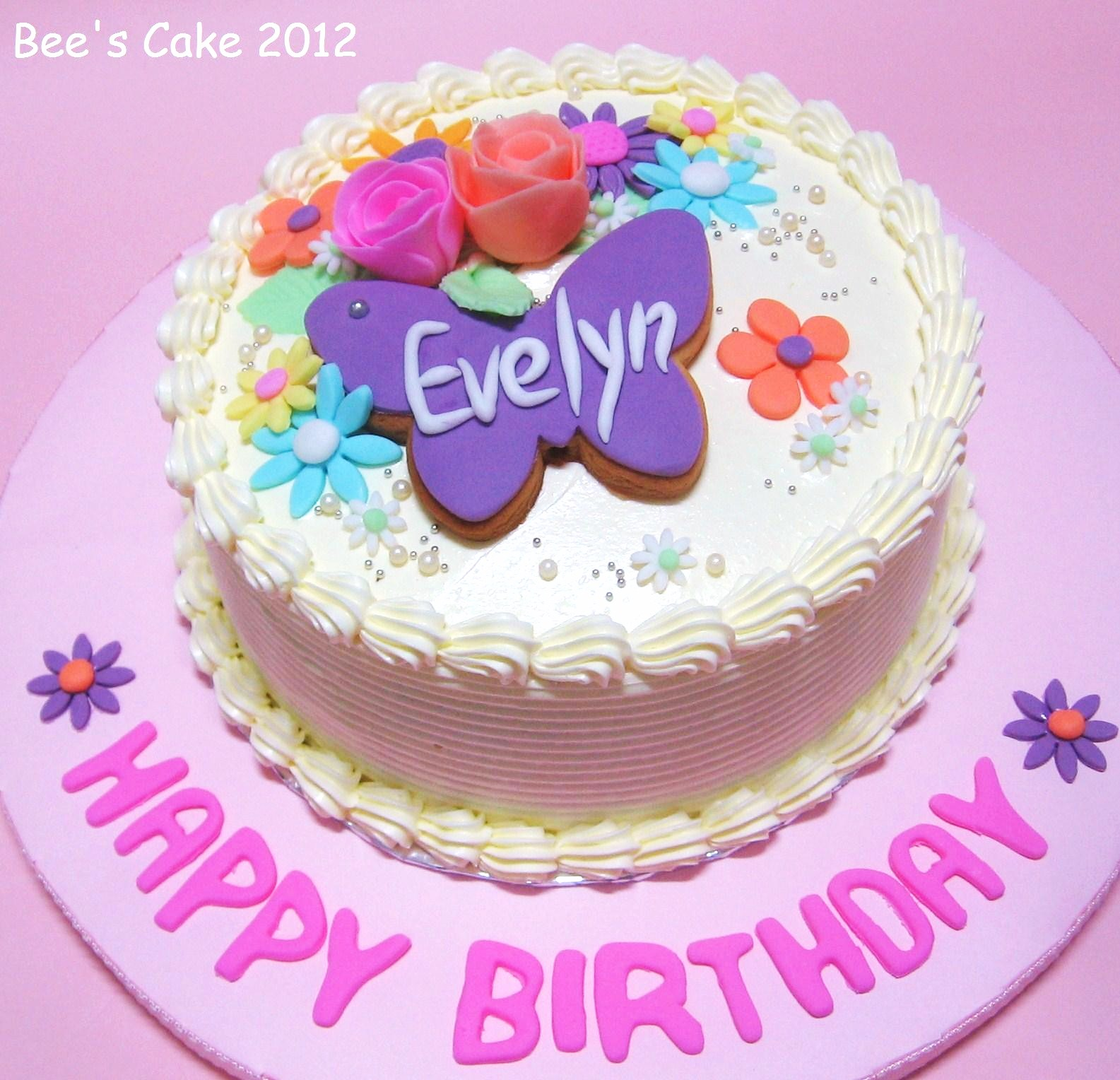 Bees Cake Flowers Cake For Evelyn