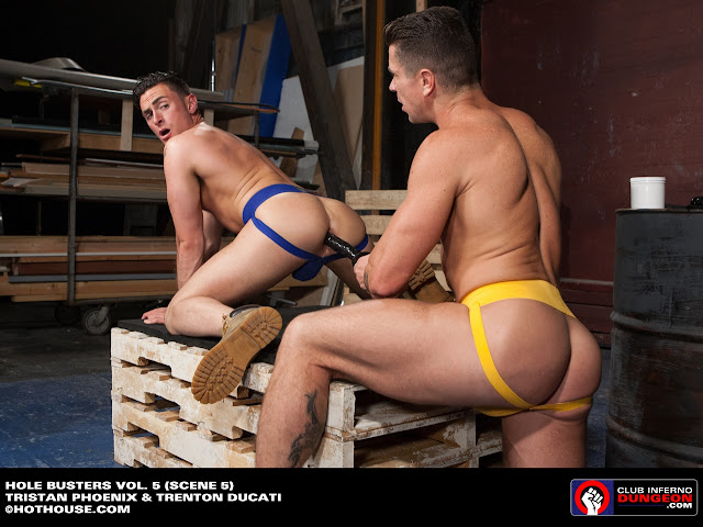 two jockstrap butts