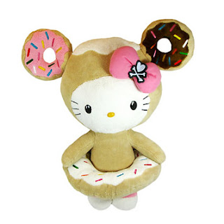 Hello Kitty soft plush toy in donut costume