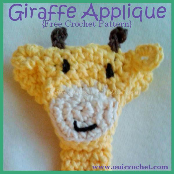 Oui Crochet Giraffe Applique Free Crochet Pattern