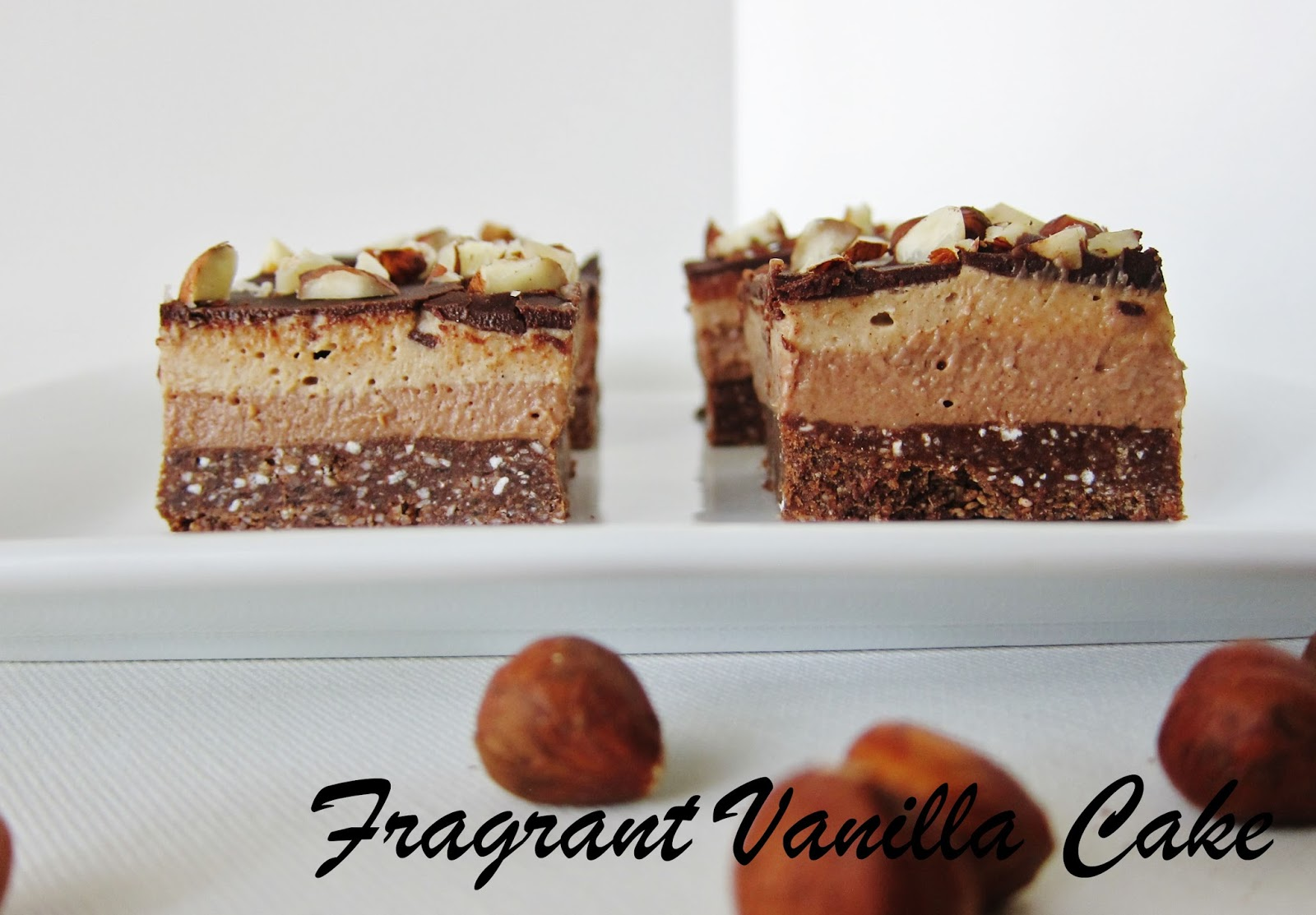 I invisioned a crunchy chocolate cookie hazelnut crust, a ...