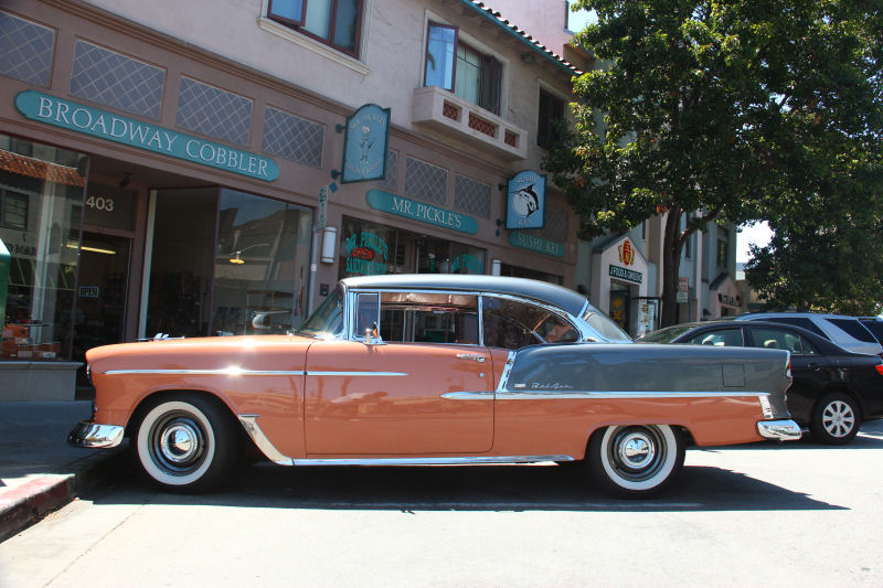 California streets millbrae street sighting 1955 chevrolet bel air sport coupe - 1955 chevrolet belair sport coupe ...