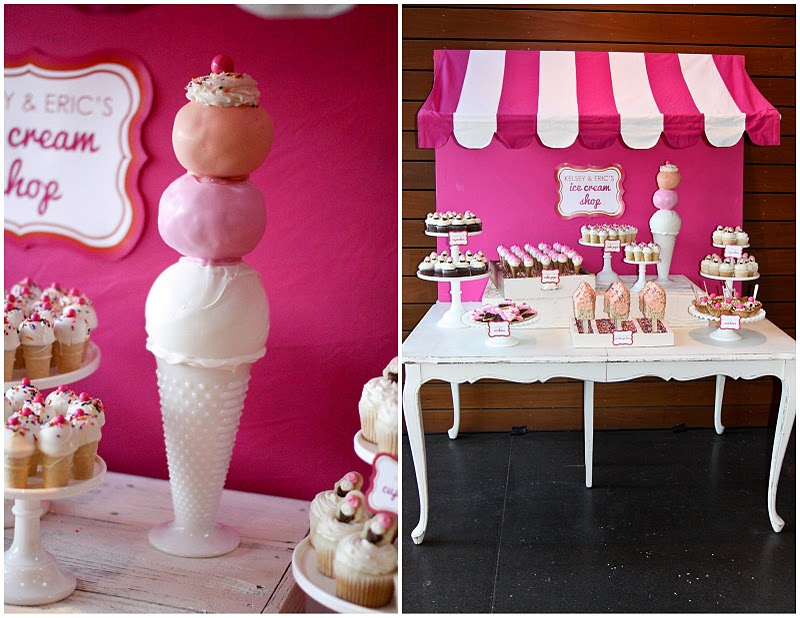 My Next Party Feature Goes To This Lovely ICE CREAM SHOPPE WEDDING DESSERT  TABLE Submitted By The Talented Jenny Keller From Jenny Cookies. How  Darling!