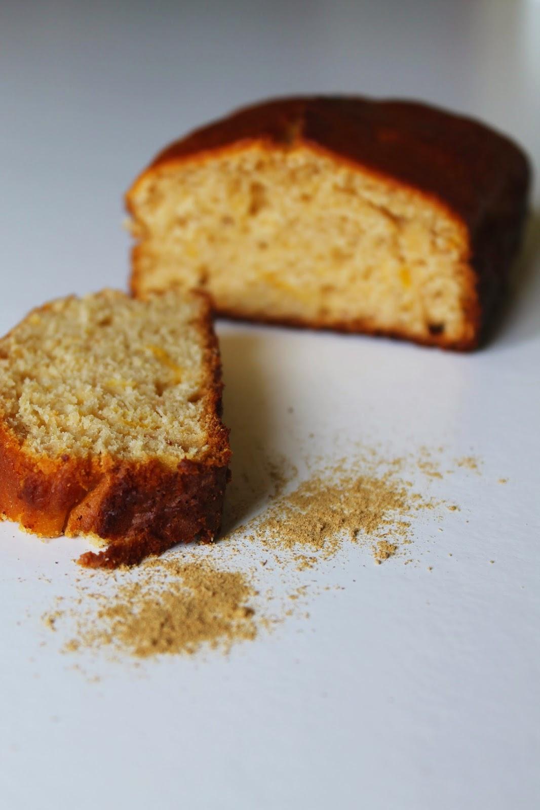 plumcake gluten free, agrumi e zenzero