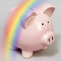 Rainbow Piggie Bank