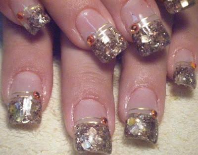 Uñas Decoradas para 15 Años, Imágenes de uñas decoradas sencillas.