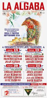 La Algaba - Feria 2014 - Cartel Festejos Taurino