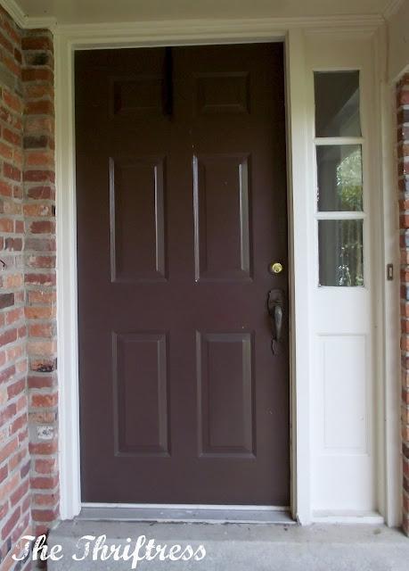 Brown Front Door : Front doors may
