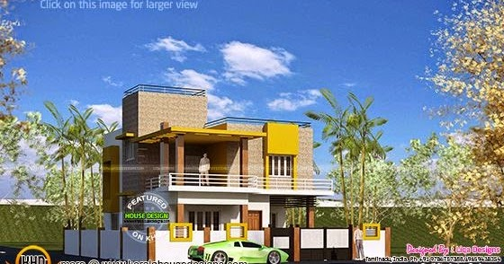 Flat roof house tamilnadu kerala home design and floor for Bedroom designs tamilnadu