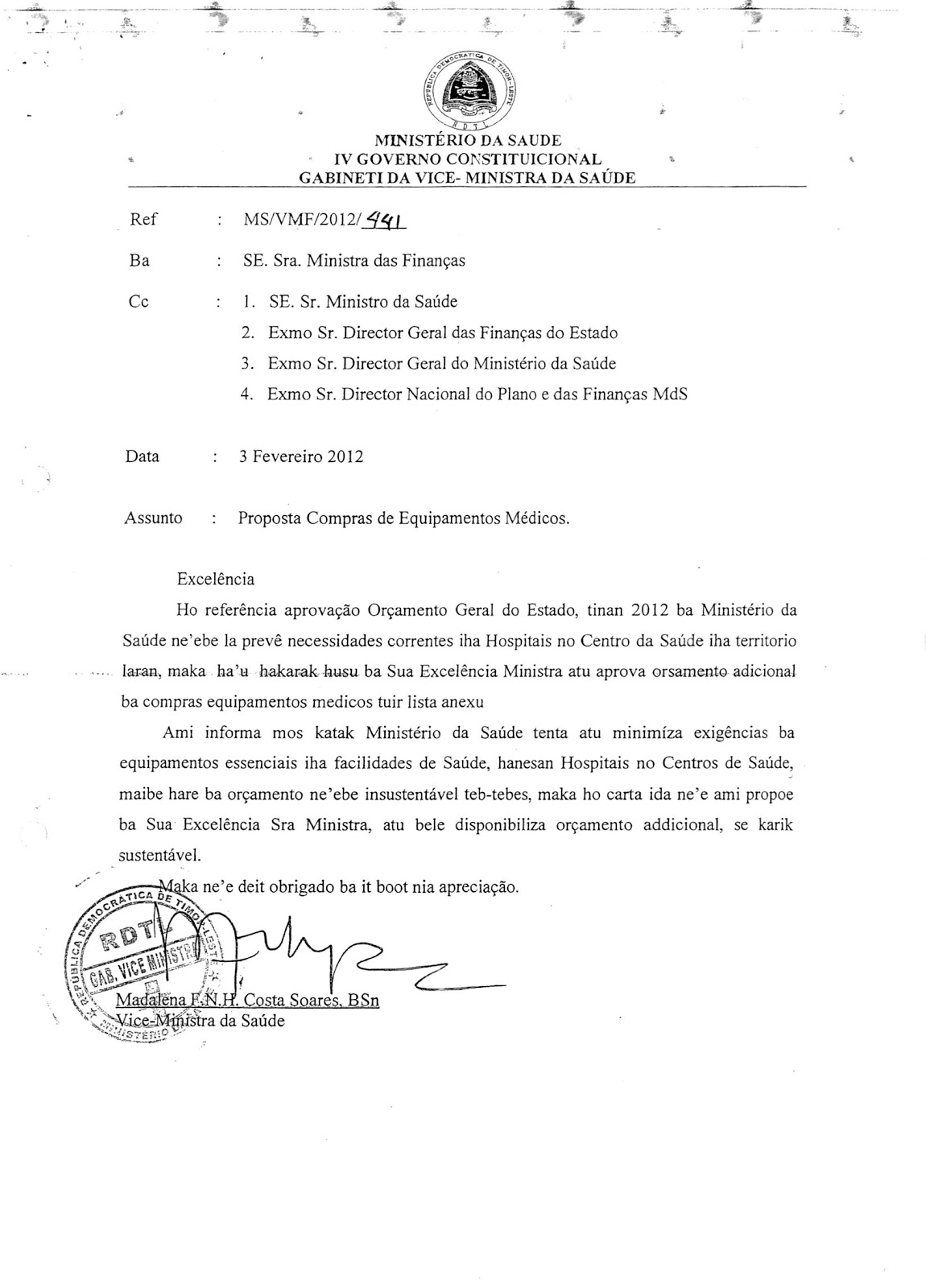 TEMPO SEMANAL MINISTER OF FINANCE EMILIA PIRES APPROVES
