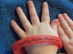 Faith, Hope,Love red silicone wristbands