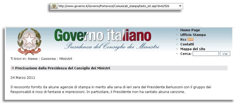 Italiani imbecilli comunicato importante dal governo italiano for Sito governo italiano