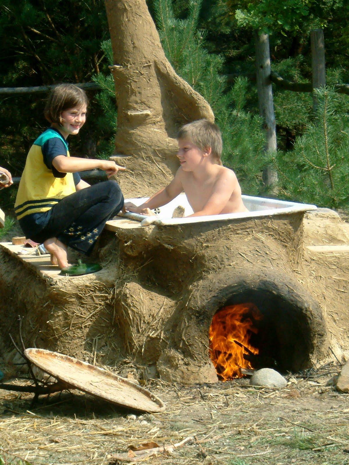 Печь в саду своими руками из ванны