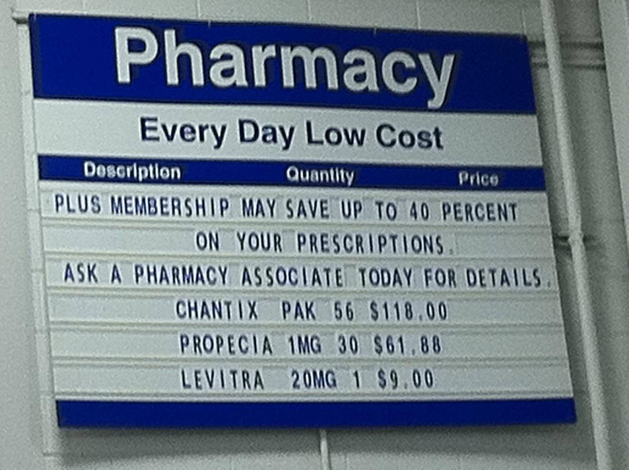 sams club pharmacy pricing